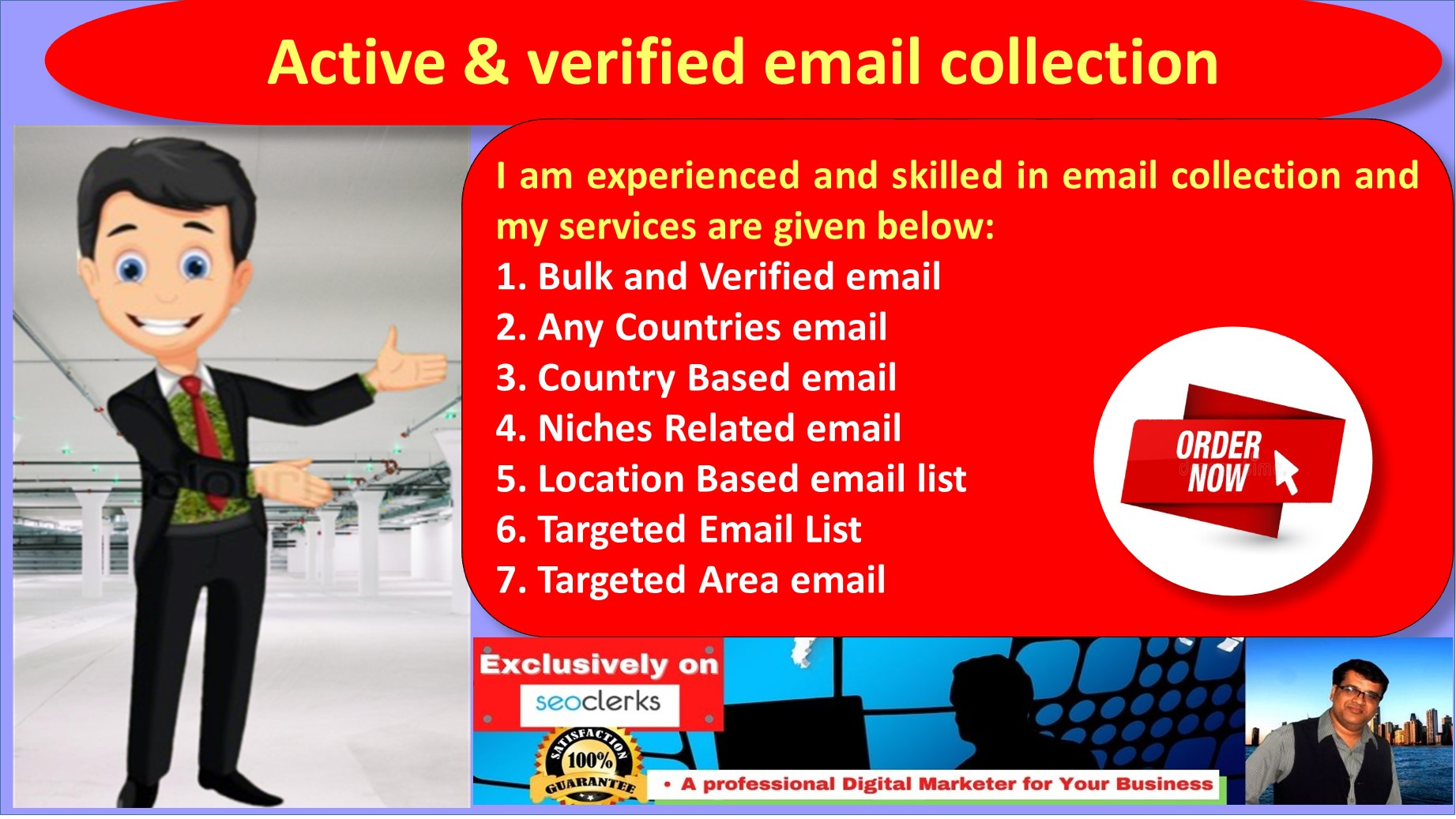 I will collect 5000 verified niche targeted email list,  bulk email collection
