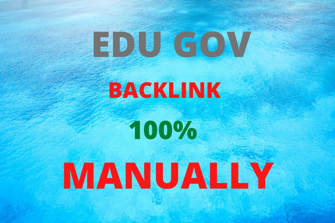 I will creat 200 high quality EDU GOV Backlinks Manually & guarenteed.