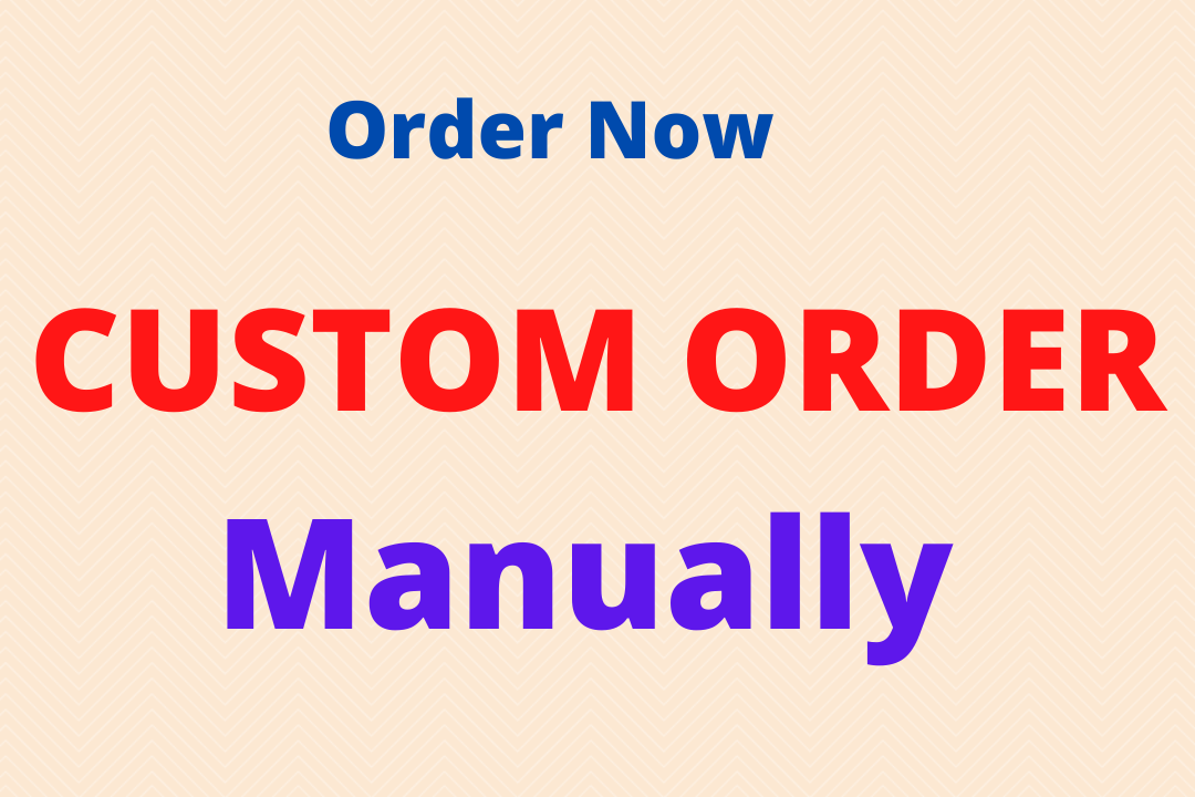 costom order manually. I will creat any kinds of backlinks by manually and hardworking.