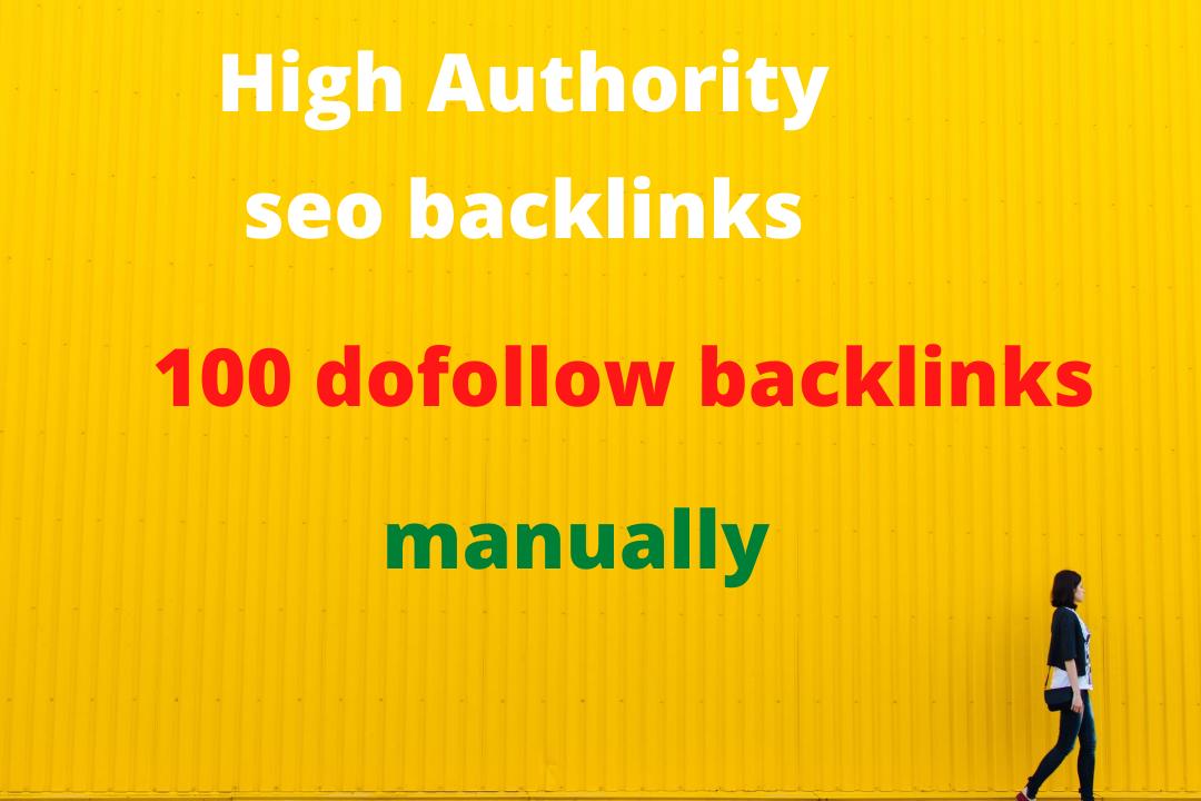 Manually 100 do follow seo back links