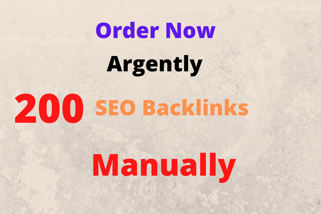 I will creat 200 do follow high quality strong seo backlinks manually & hard working.