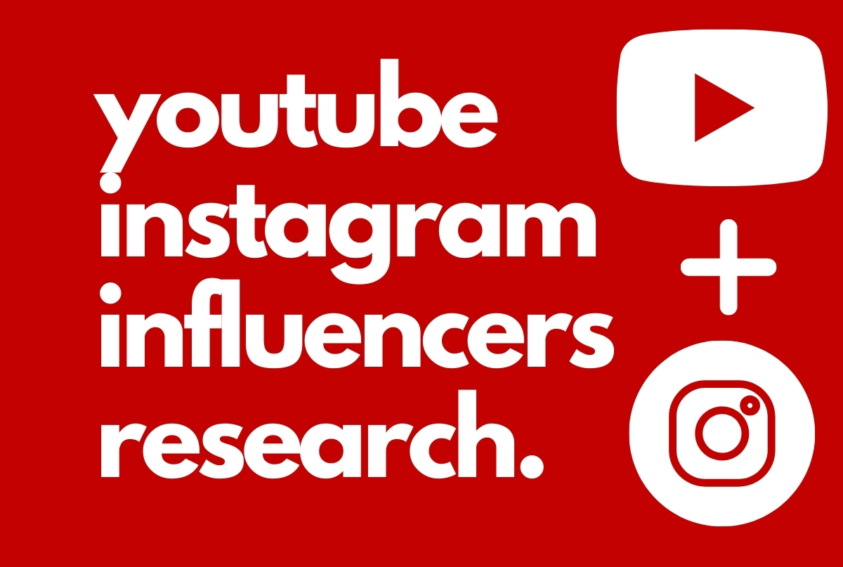 I will find best 25 youtube and instagram influencers