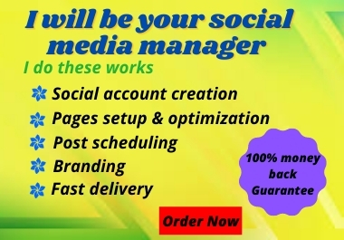 I will create one Social Media Profile and optimize it.