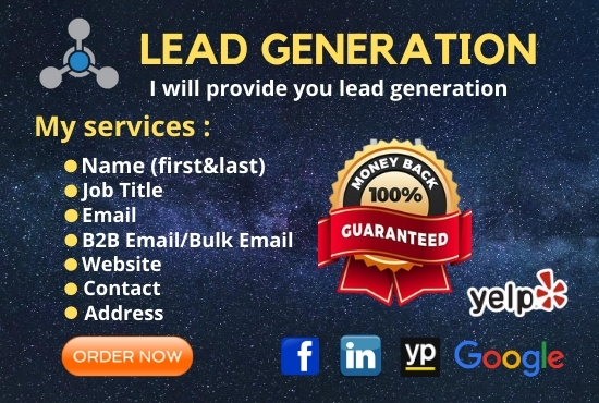 I will provide you Lead Generation