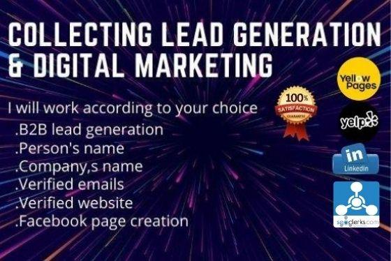 I will provide linkedin lead generation and b2b leads