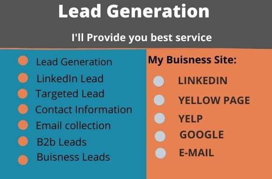 I will provide you targeted lead generation and b2b lead