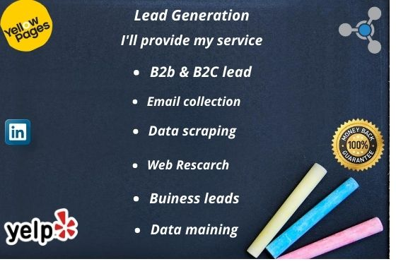 I'll provide you Lead generation, B2B leads, email collection, data mining, data scraping
