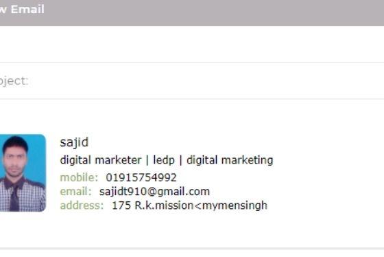 I'll create email clickable HTML signature