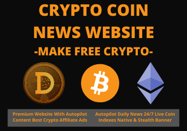 I can build crypto bitcoin news website for making money