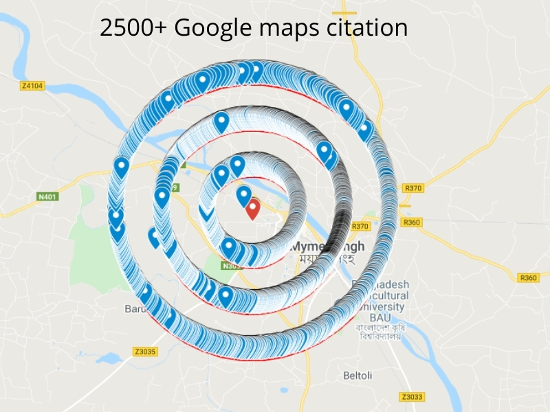 I will create 2500+ Google maps citations