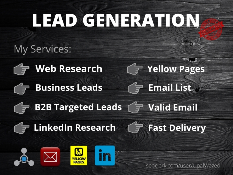 I will do b2b lead generation and web research for valid leads