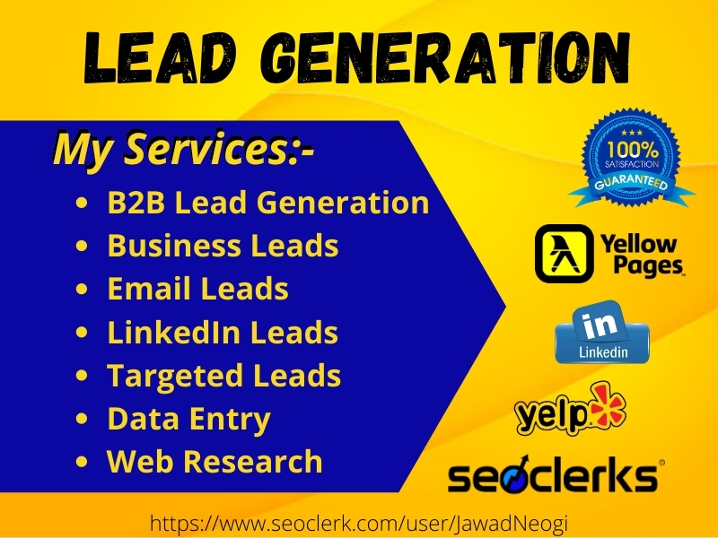 I will collect 10 leads for you from different social media or site