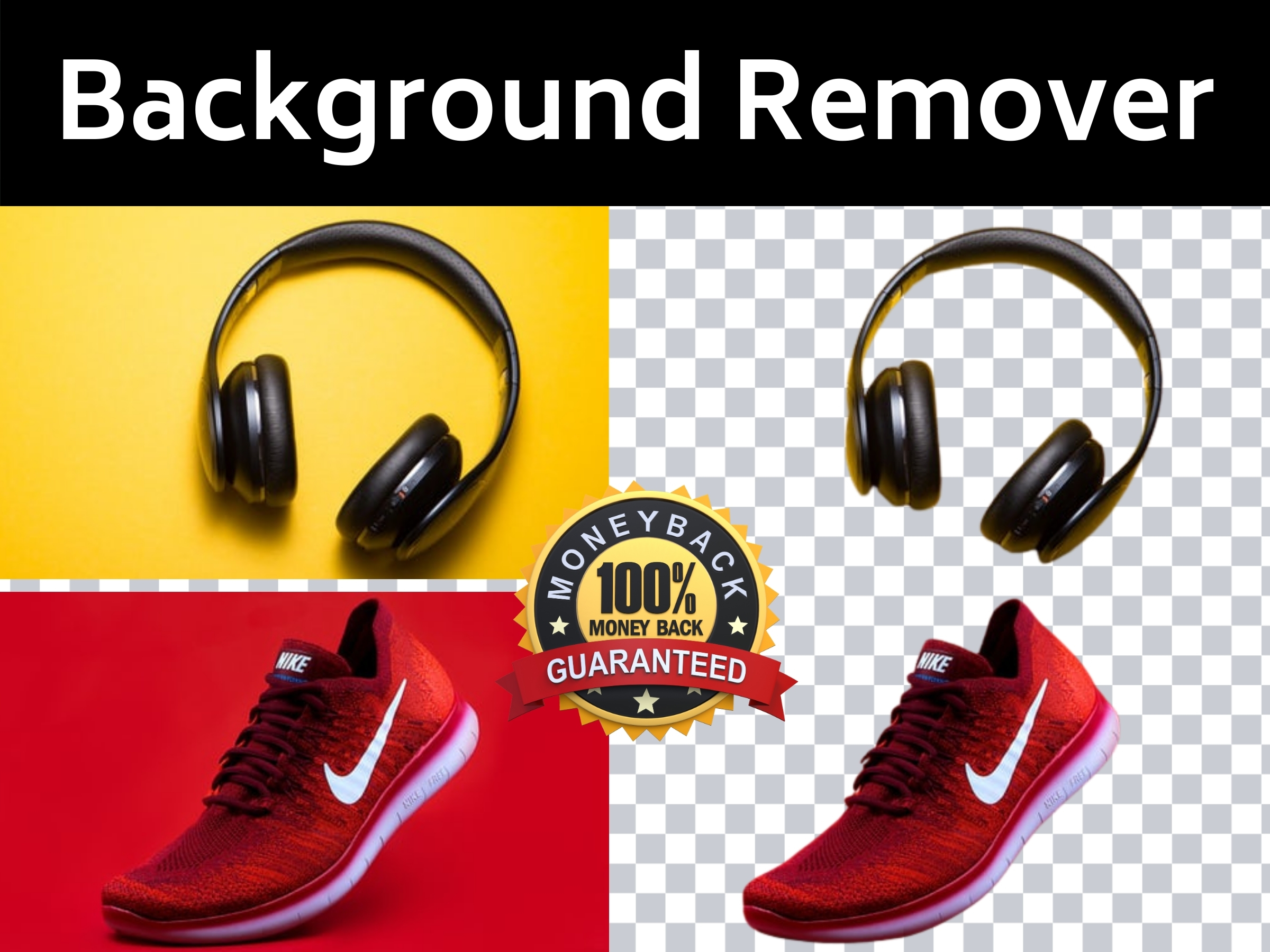 I will remove background from 5 images and do photo retouch