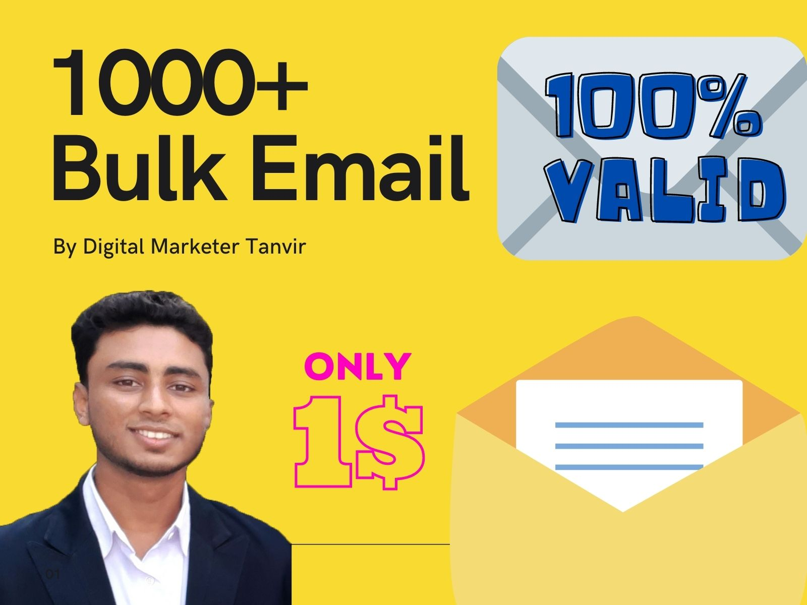 I will provide niche based 1000 bulk email list and verified email list for email marketing