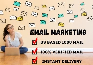 I will deliver 1000 Verified and Active USA mail