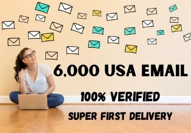 I will deliver 6,000 Verified and Active USA mail