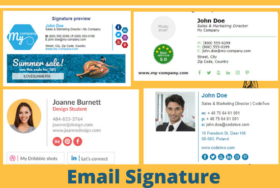 I Will do create clickble Email Signature