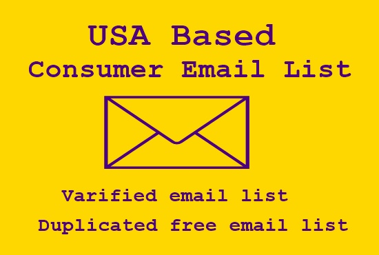 I will provide 1K USA based consumer email list