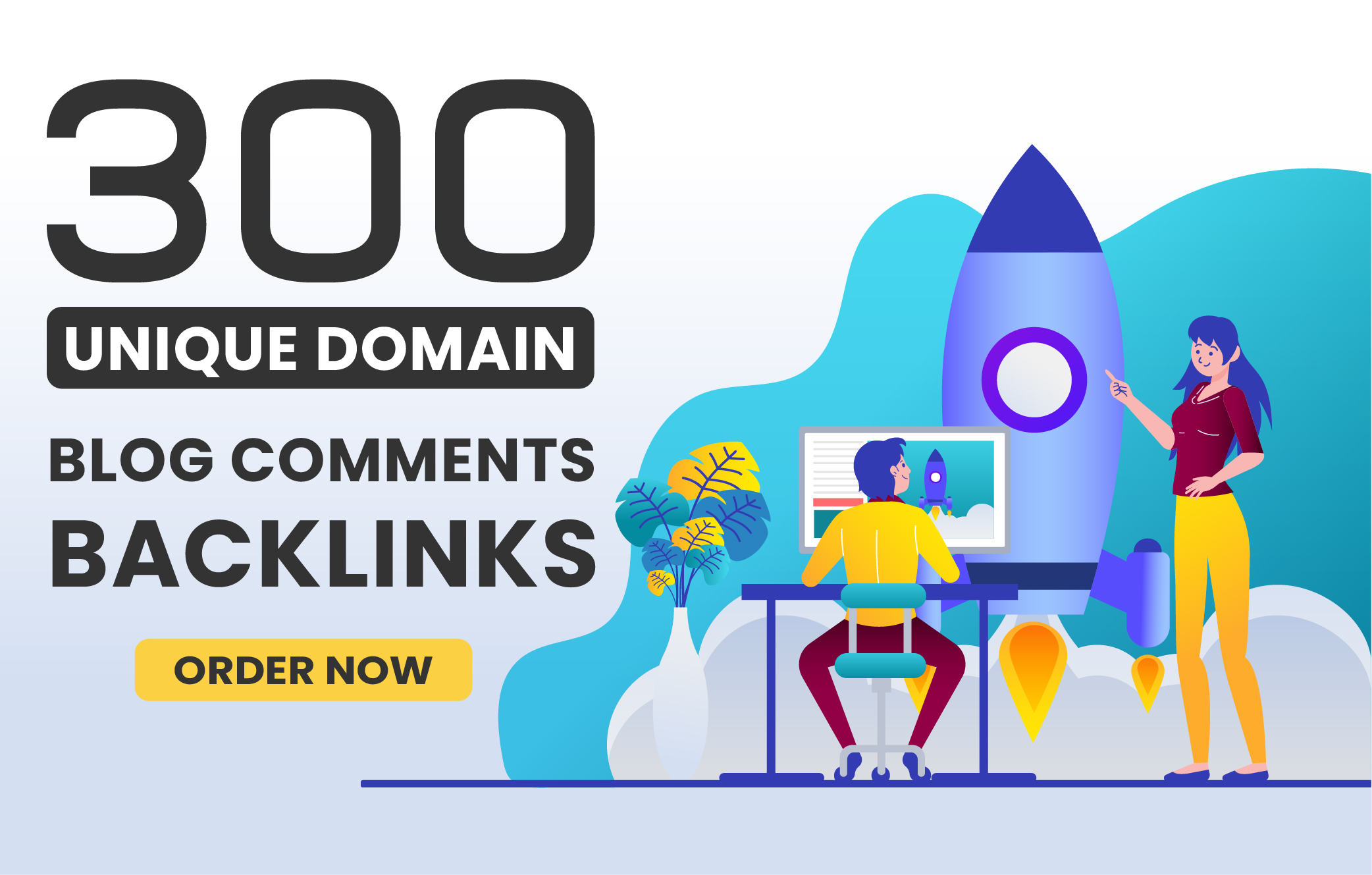 I will do 300 Unique domain blog comments with high DA PA