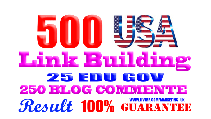 I will do manually link building,  usa backlinks for seo service