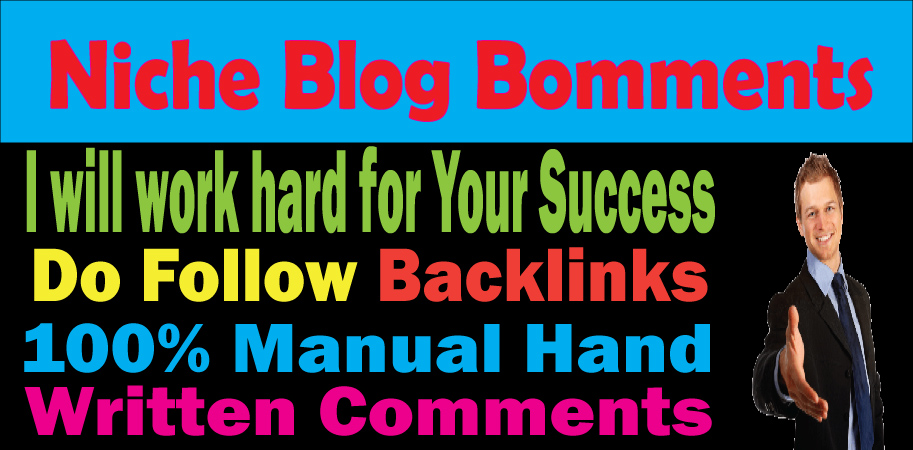 I will manually provide created 50 niche blog comments Exclusive Handmade Seo Expertise Service - Bl
