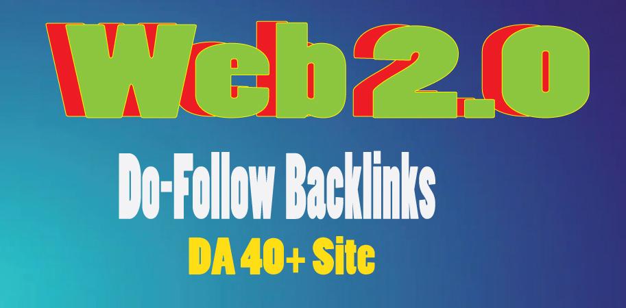 I will create 15 Web 2.0 do-follow back-links on 40+ DA sites