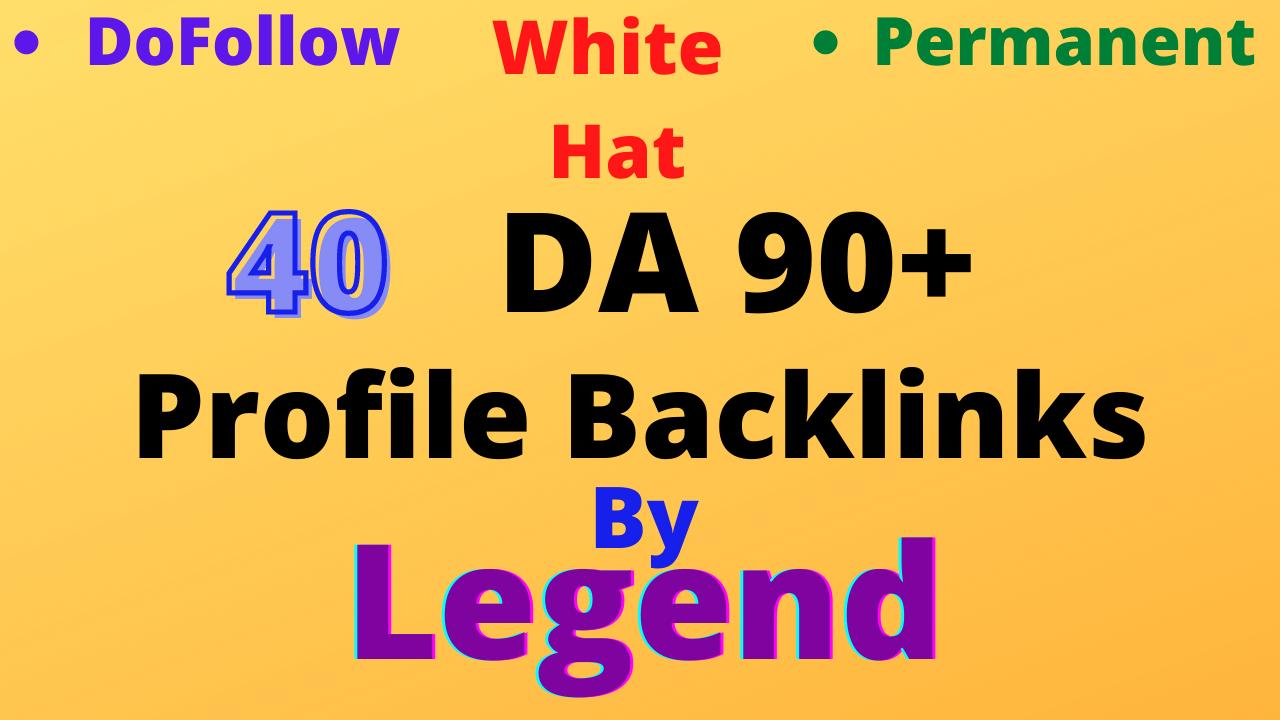 I will create 40 high da profile backlinks