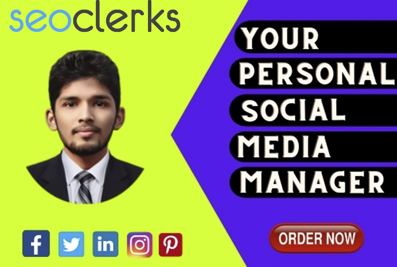 I will be your social media manager 3 posts per week 12 posts per month on two social media