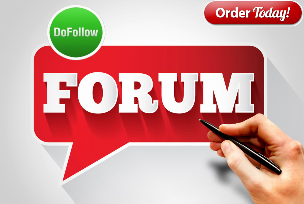 I will do 50 high quality forum posting backlink
