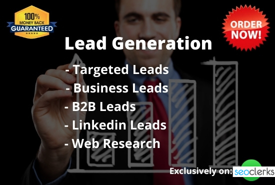 50 targeted lead generation and linkedin or b2b lead generation