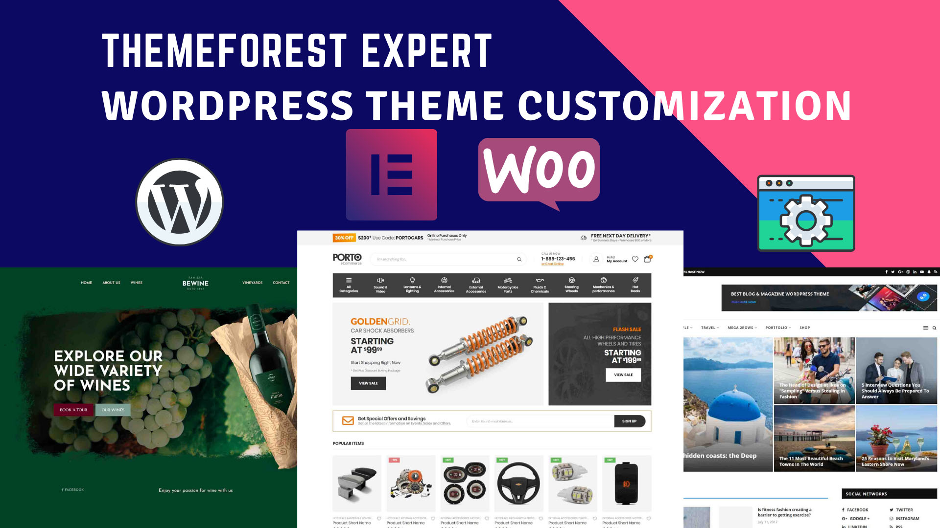 I will do any WordPress premium theme customization or any WordPress website