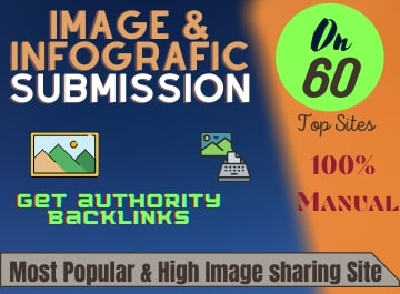 I will manually do Image and infographic submission on high PR image sharing sites