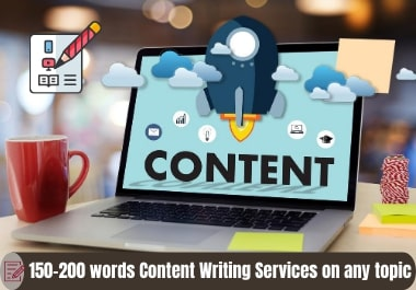 150-200 words unique Content-Blog-Article Writing services on any topic with proper SEO