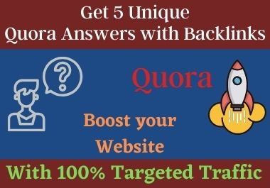Skyrocket Your Website 5 High Quality Quora Space Backlinks