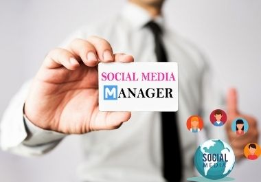 I will be your professional social media marketing manager and content creator