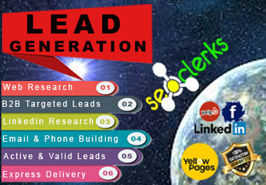 I will provide b2b lead generation web scraping with the email list