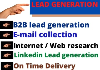 I will do b2b lead generation and find targeted email list