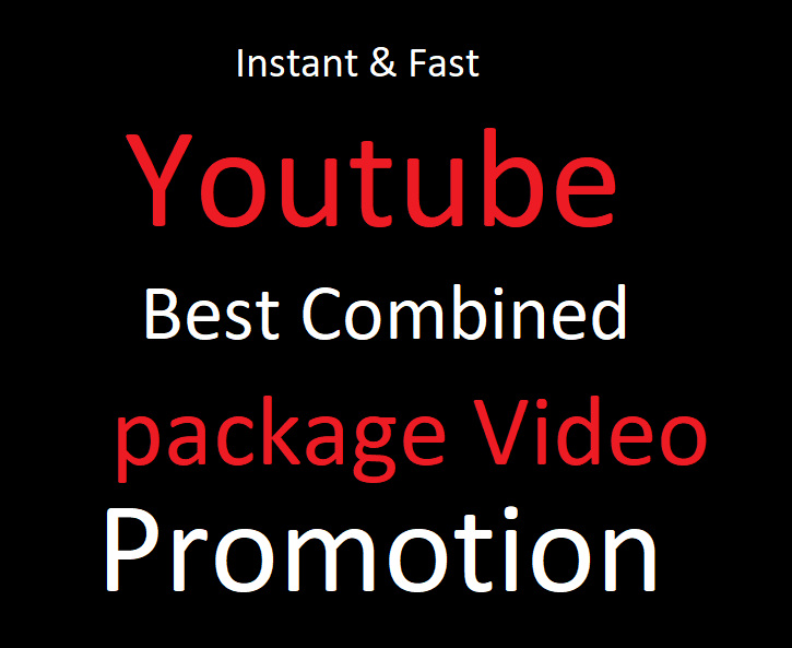 instant all in one best combined Youtube video package promotion