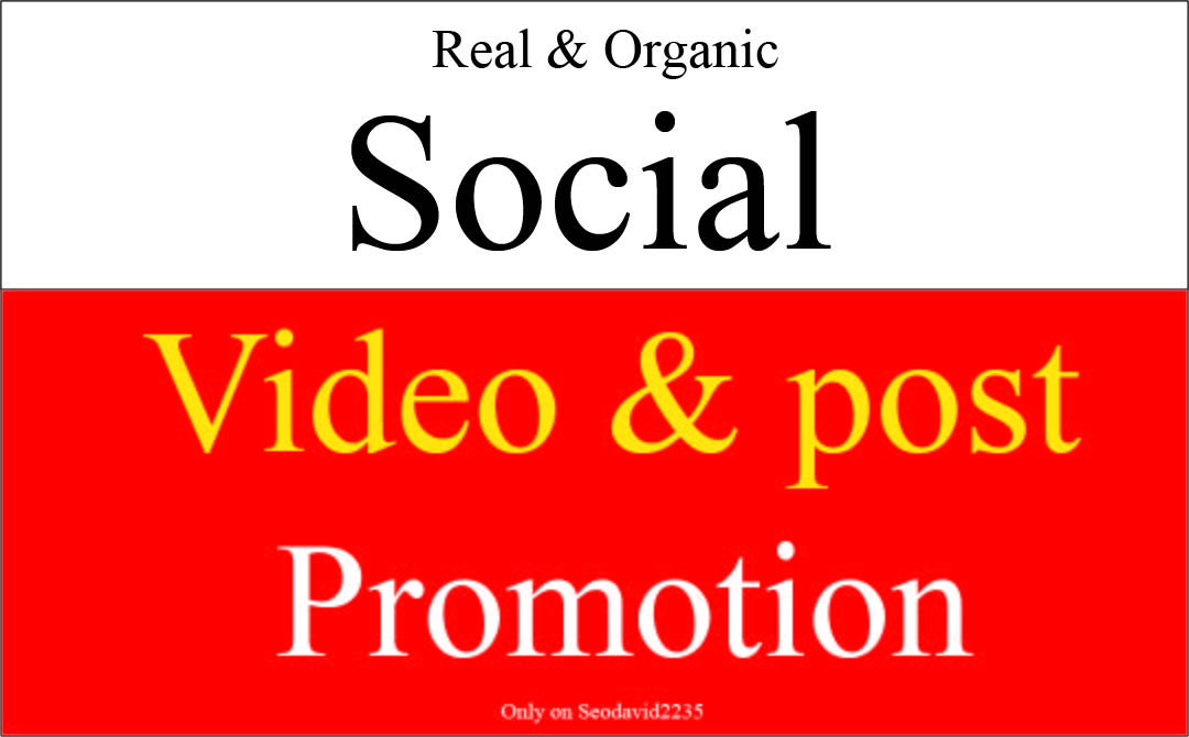 Instant post video promotion by social media marketing