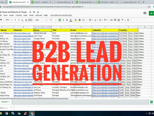 You will get b2b lead generation for your targeted business & web research