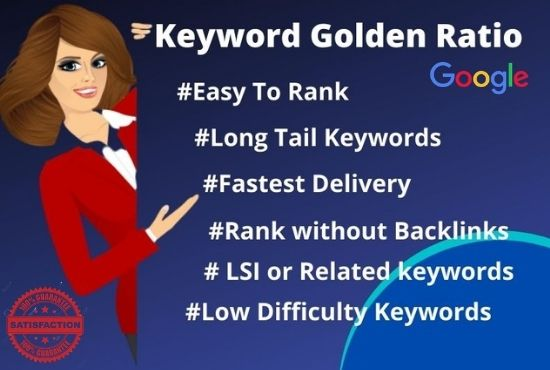I will do kgr keyword research for first ranking of your site