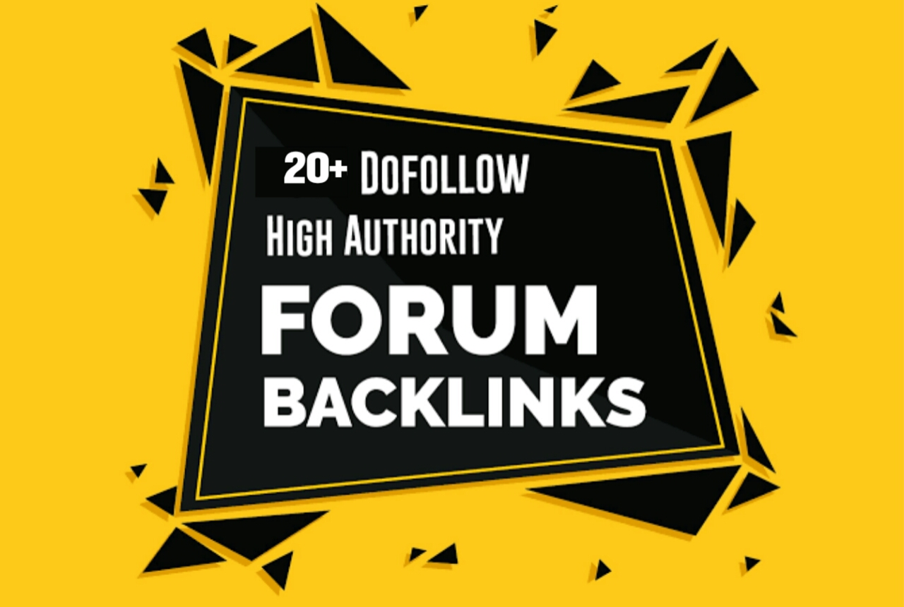 Manually create 20+ High Authority Forum posting for Guaranteed Traffics & backlinks