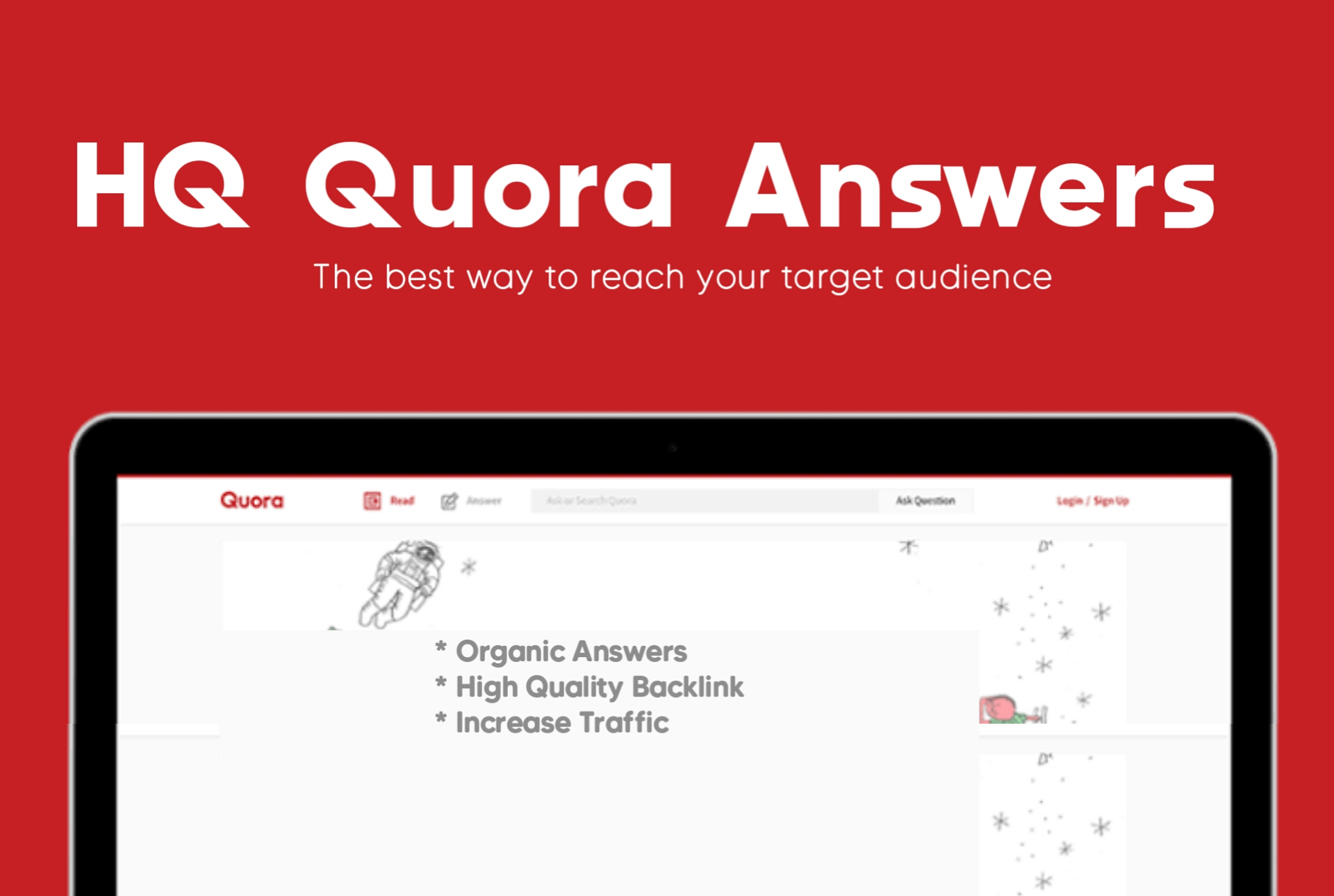 Get Niche Relevant Traffic to your link By 30 Quora Answer