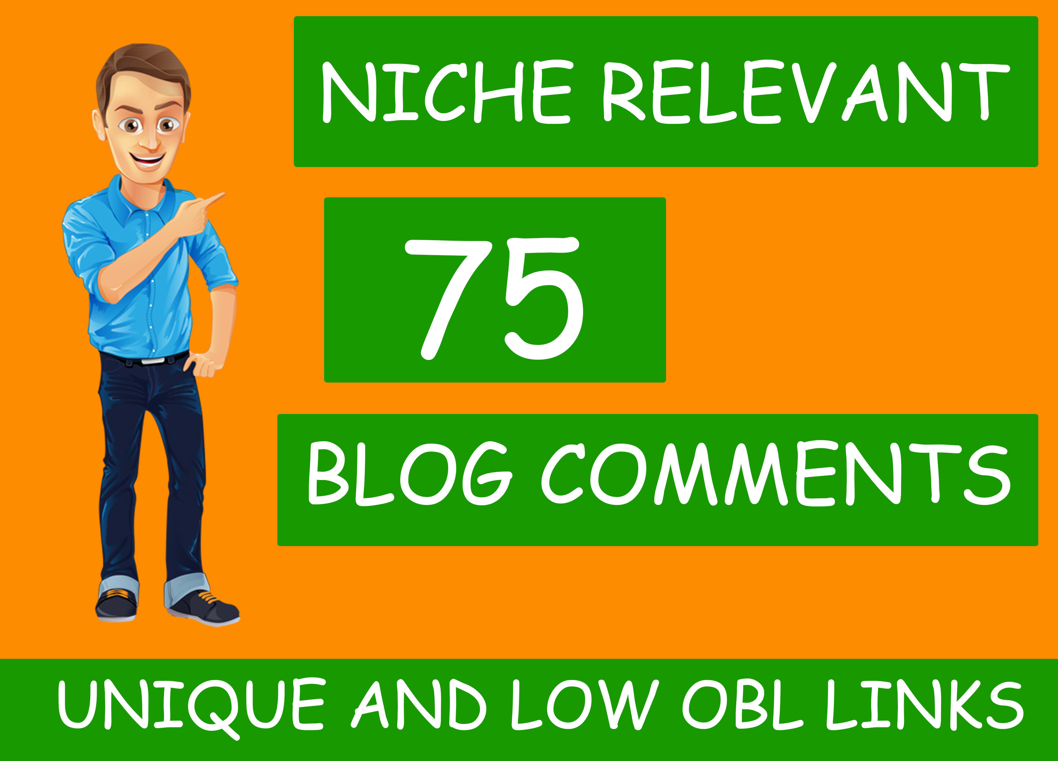 I will submit 75 niche relevant low obl blog comment seo backlinks
