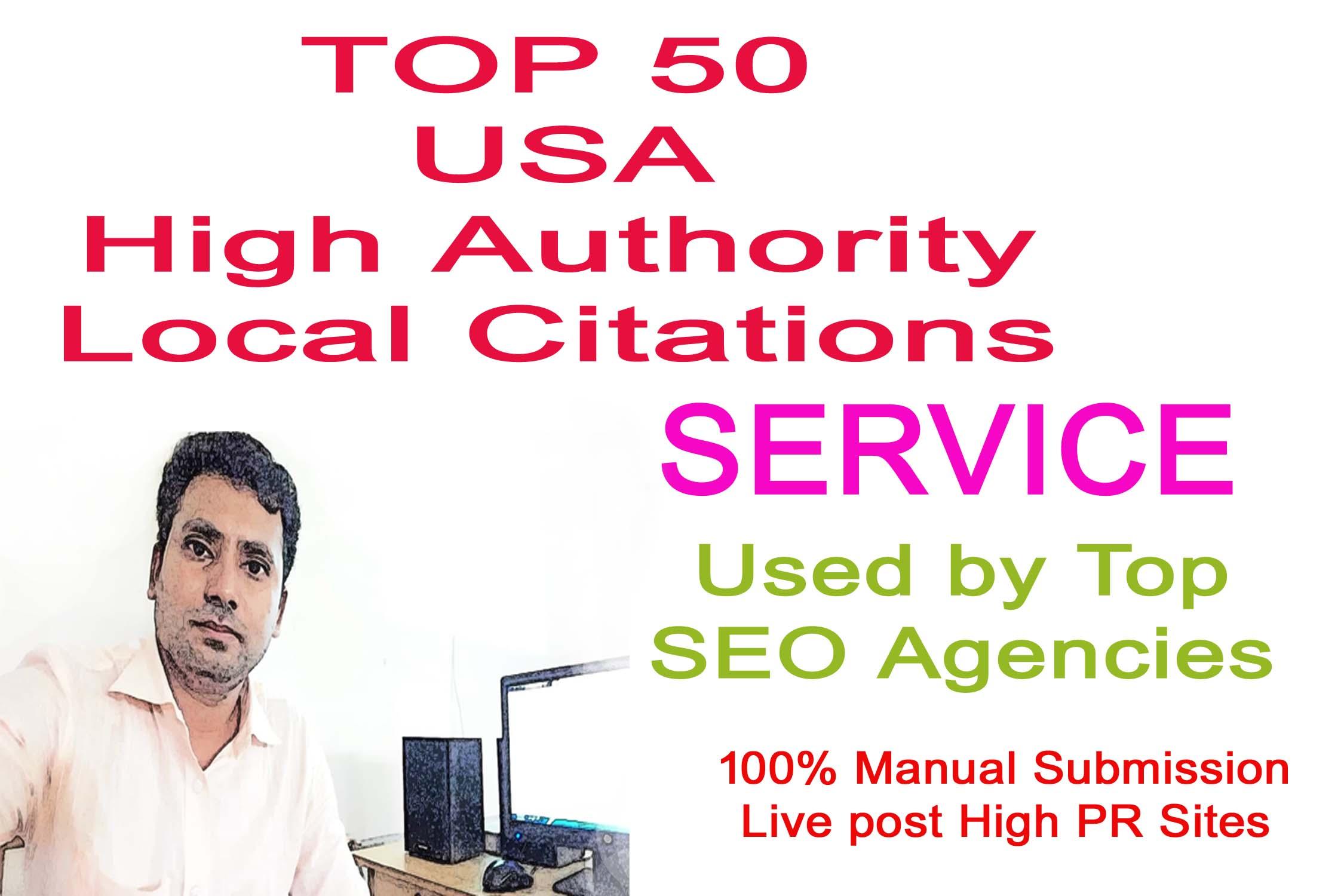 I will do Top 50 USA High Quality local citations SEO