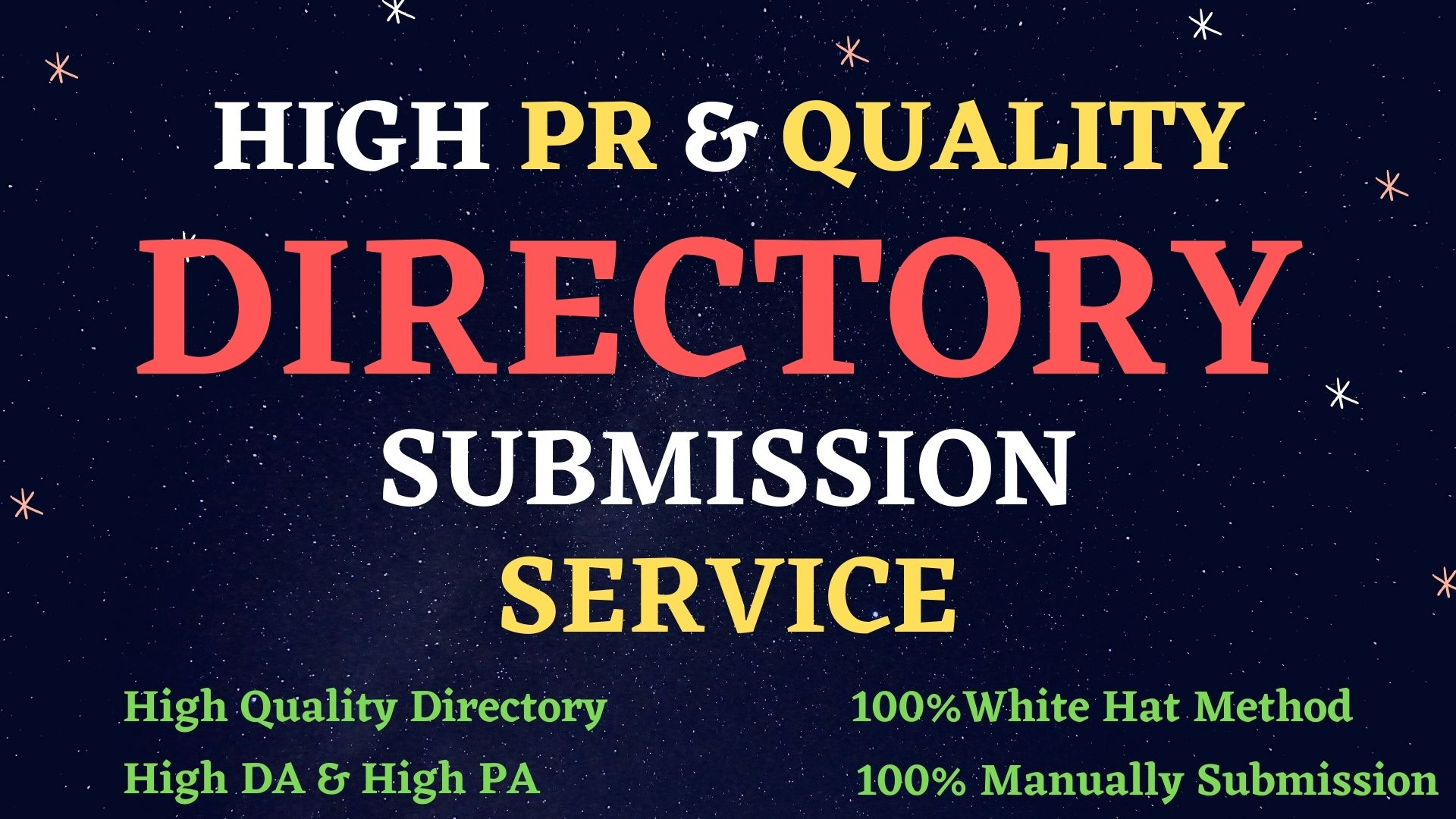 I Will Do 100 High PR Web Directory Submissions For SEO