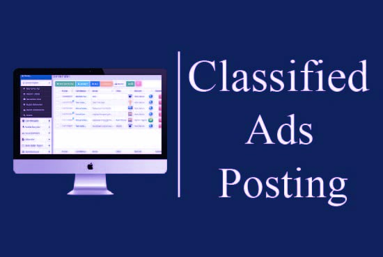 I Will Post Your 100 Ads To Top Classified Ad Posting Sites