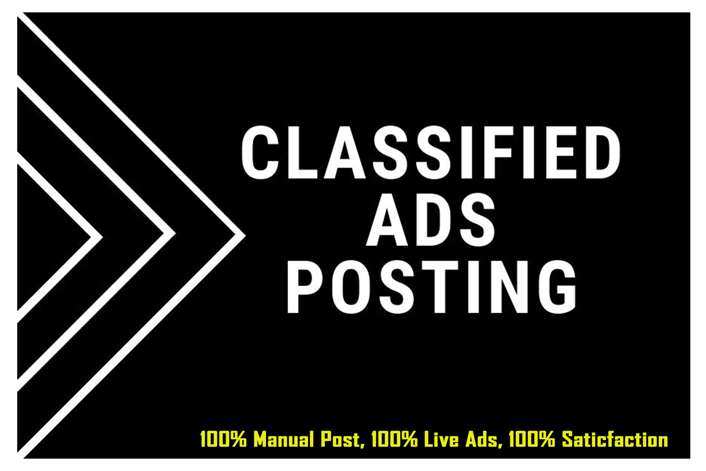 I Will Manually Post Your Ads on USA,  UK,  CANADA,  AUSTRALIA,  Classified Ad Posting Sites