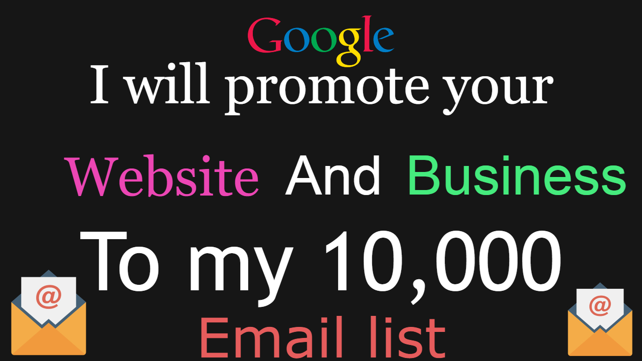 promote offer to my 10k targeted email list blast in 24 hr