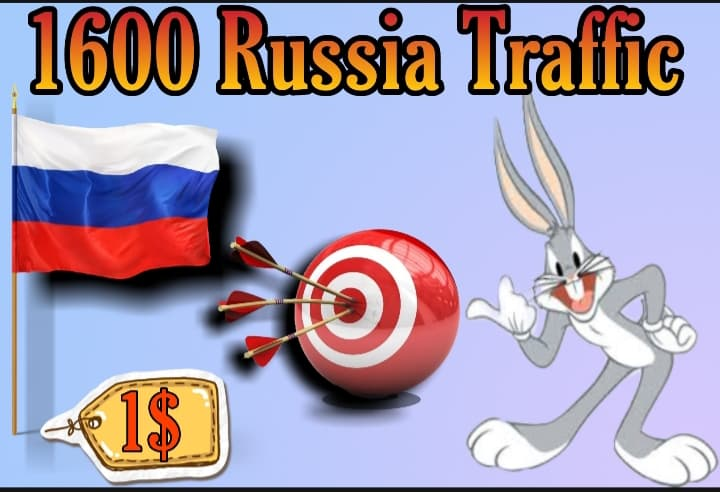 1600 TARGETED Russia traffic to your website or blog